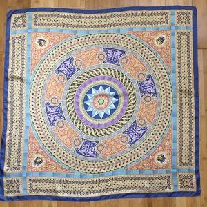 Silk scarf extra large United States Senate blue